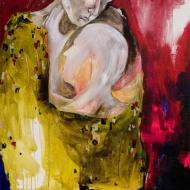 Petra Cepková, Krasosmutnění, 82 x 94 cm, akryl na plátne, 2009