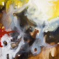 Petra Cepková, Návšteva, 100 x 100 cm, akryl na plátne, 2012