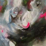 Petra Cepková, Paralelné sny, 100 x 100 cm, akryl na plátne, 2012